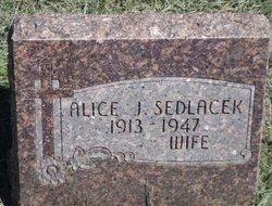 Alice J <i>Cerny</i> Sedlacek