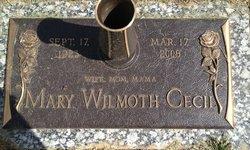 Mary Elizabeth <i>Wilmoth</i> Cecil