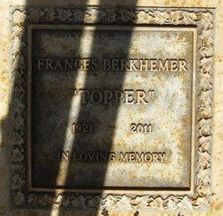 Frances Topper <i>Topping</i> Berkhemer