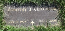Dorothy Jean <i>Johnson</i> Critchlow