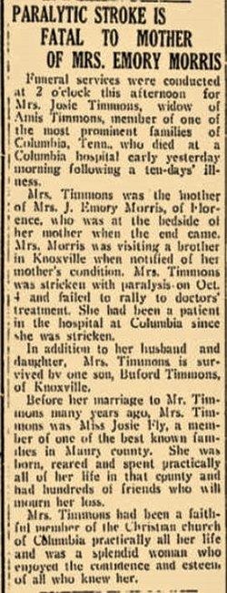 Josephine <i>Fly</i> Timmons