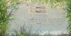 Anna Imogene Jean <i>Oller</i> Carson