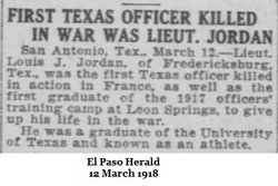 Lieut Louis John Jordan