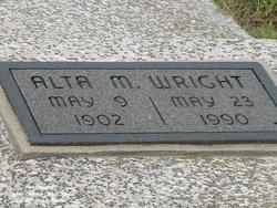 Alta M. <i>VanVacter</i> Wright