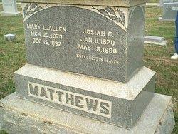 Mary L <i>Matthews</i> Allen