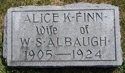 Alice Katherine <i>Finn</i> Albaugh
