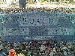 Mary Frances Fannie <i>Rigsby</i> Hefner Roach West
