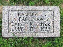 Beverley E Bagshaw