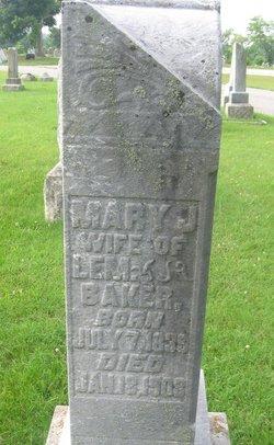 Mary J <i>Phillips</i> Baker
