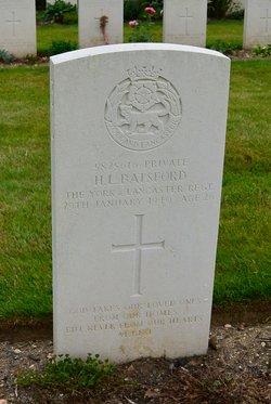 Pvt Harold Lionel Batsford