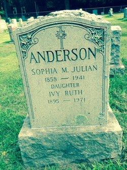 Sophia M <i>Julian</i> Anderson