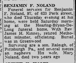 Benjamin F. Noland