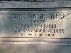 Ann <i>Odenheimer</i> Grubb