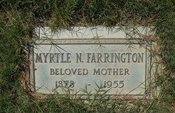 Myrtle N <i>Porter</i> Farrington