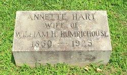 Annette Nettie <i>Hart</i> Humrichouse