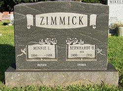 Wilhelmina L Minnie Zimmick