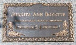 Mrs Juanita Ann Ann <i>McKenney</i> Boyette