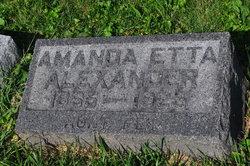 Amanda Etta Alexander