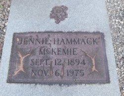 Jennie <i>Hammock</i> McKemie