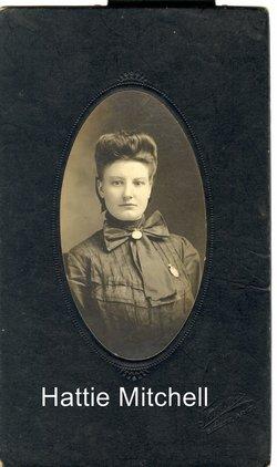 Harriett Adline Hattie <i>Mitchell</i> Frazier