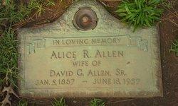 Alice Rebekah <i>Allen</i> Allen