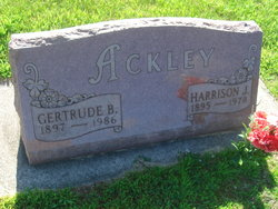 Gertrude B <i>Castle</i> Ackley
