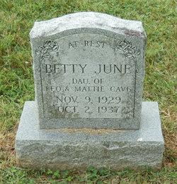 Betty June Cave