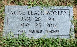 Alice <i>Black</i> Worley