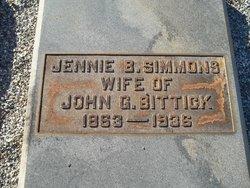 Jennie <i>Simmons</i> Bittick