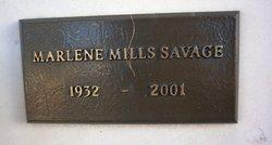 Marlene <i>Mills</i> Savage