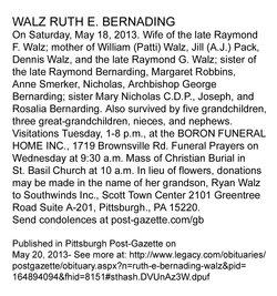 Ruth Elizabeth <i>Bernarding</i> Walz