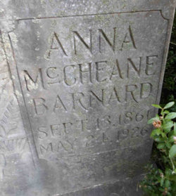 Anna <i>McCheane</i> Barnard
