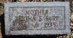 Bertha S <i>Schlickum</i> Rupp