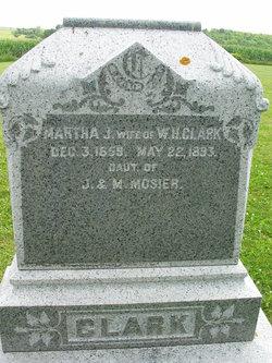 Martha J <i>Mosier</i> Clark