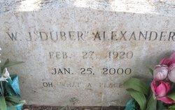 Wilber Jordan Duber Alexander