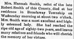 Hannah <i>Brown</i> Smith