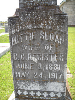 Mittie <i>Sloan</i> Register