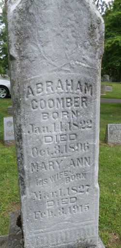 Mary Ann <i>Wickenden</i> Coomber