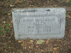 Annie <i>McCammon</i> Allen