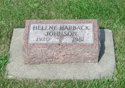 Helene Mary <i>Harback</i> Johnson