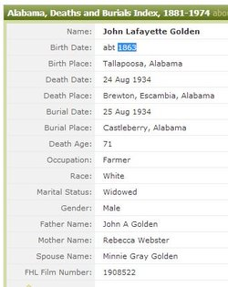 John Lafayette Golden