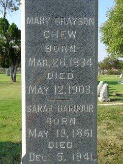 Sarah Sadie <i>Chew</i> Barbour