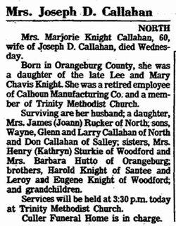 Marjorie <i>Knight</i> Callahan