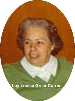 Loy Louise <i>Greer</i> Curren
