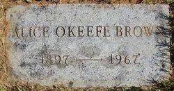 Alice <i>O'Keefe</i> Brown