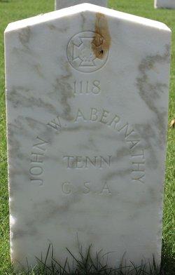 Pvt John W Abernathy