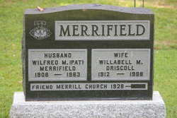 Willabell Mary <i>Driscoll</i> Merrifield