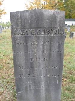 Mary E <i>Hadley</i> Preston