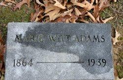 Marie <i>Witt</i> Adams