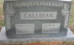 Mary Annie <i>Connor</i> Callihan